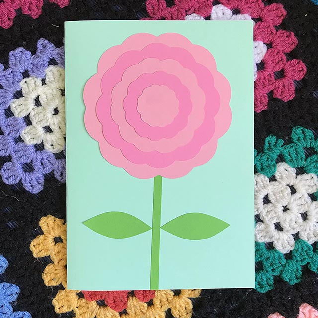 paper crafts peony flower card
