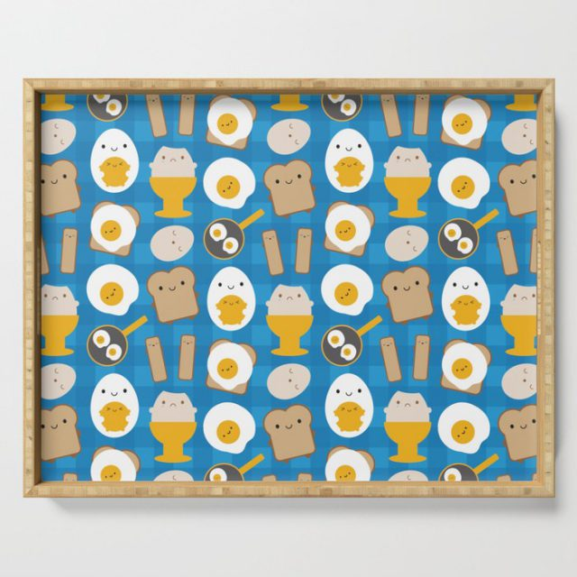 kawaii eggs for breakfast tray