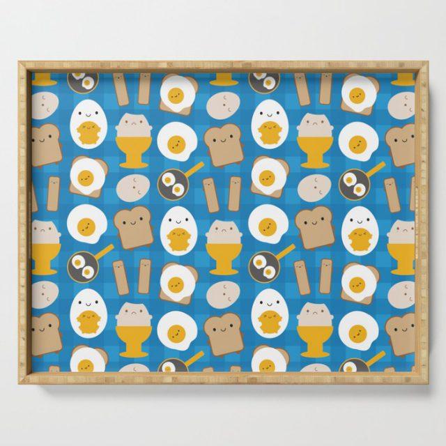 kawaii eggs for breakfast tray