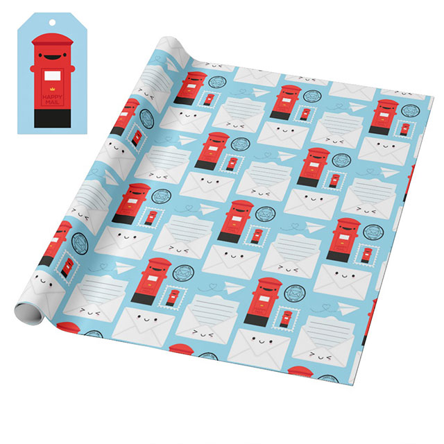 happy mail gift wrap