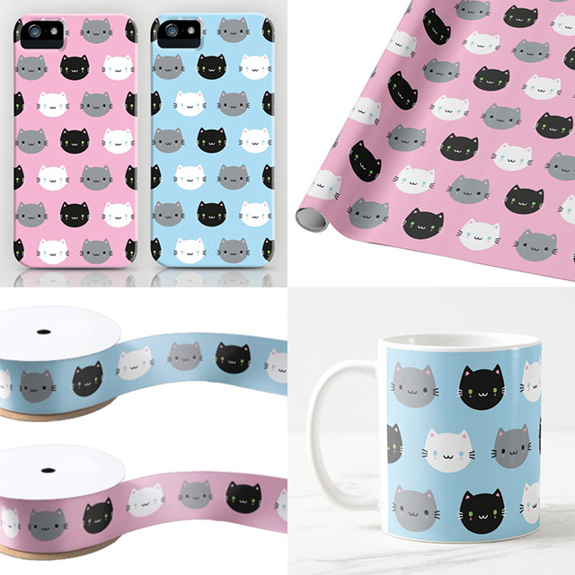 cute cats and kawaii kittens patterns
