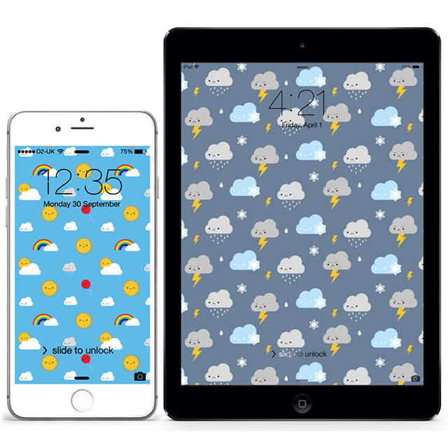 kawaii weather wallpapers