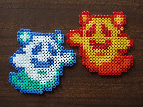 perler bead ghost coasters - Link's Awakening