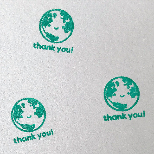 happy earth stamp