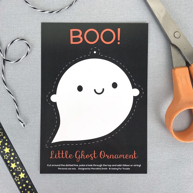 Little Ghost Ornament Postcards