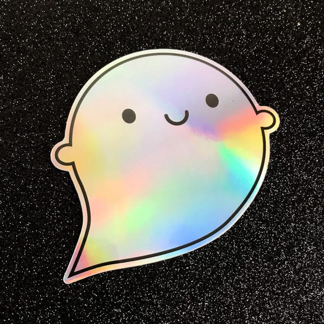 Little Ghost Holographic Stickers