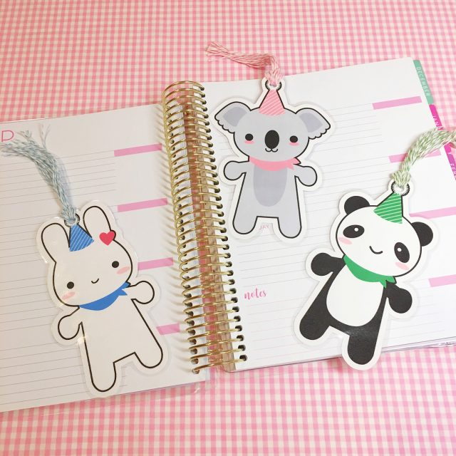 super cute kawaii printable bookmarks