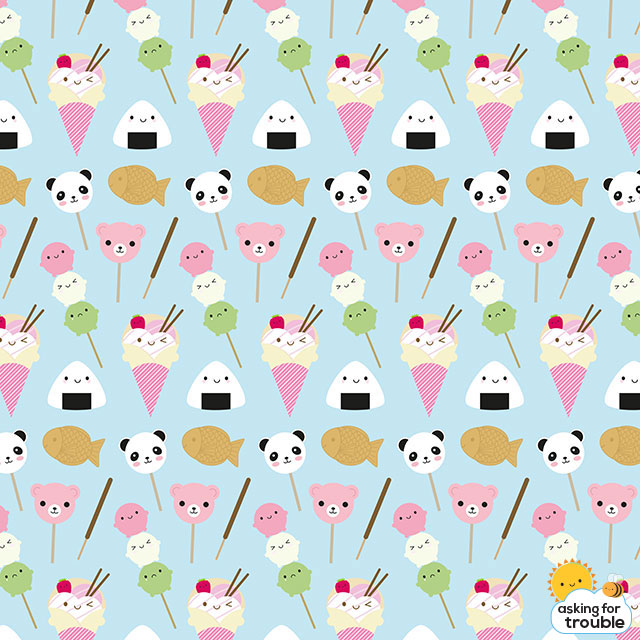 Kawaii Japanese Snacks pattern