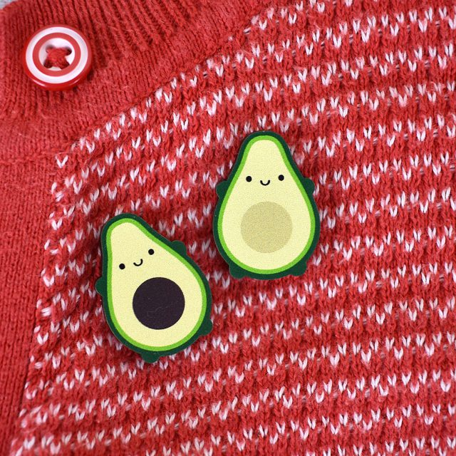 kawaii avocado pins