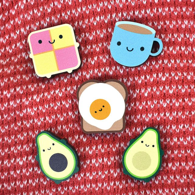 kawaii wooden pins