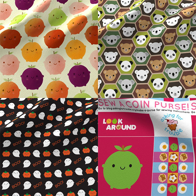 kawaii autumn fall fabric