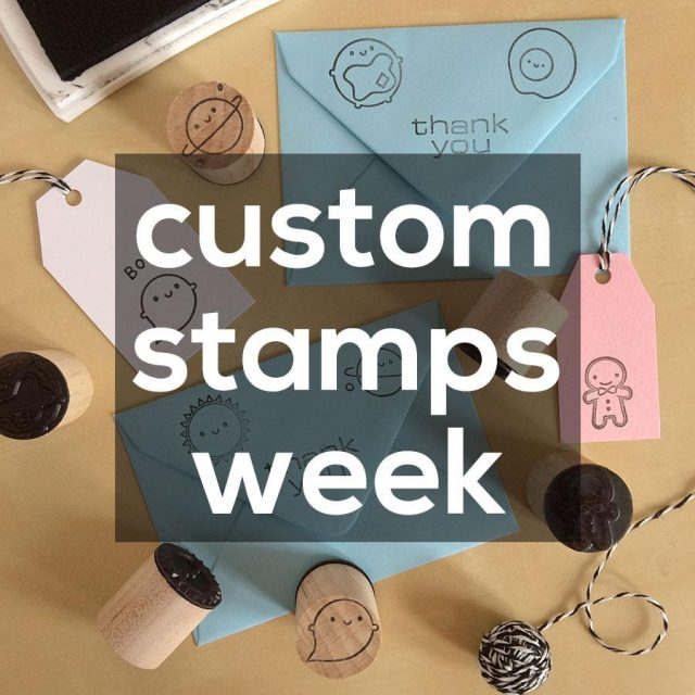 personalised custom stamps week
