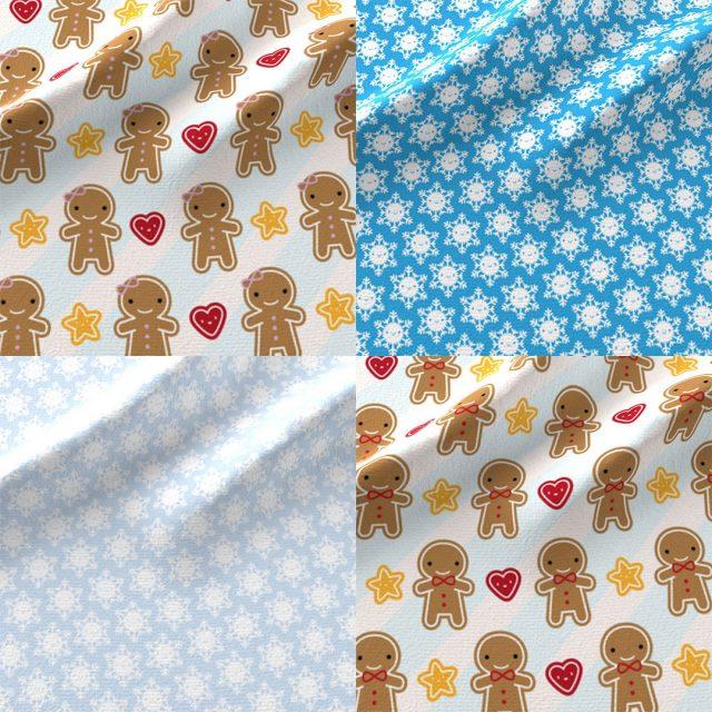 kawaii christmas fabric