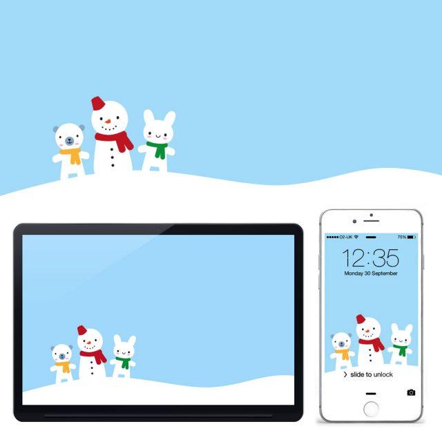 Snow Day kawaii wallpaper