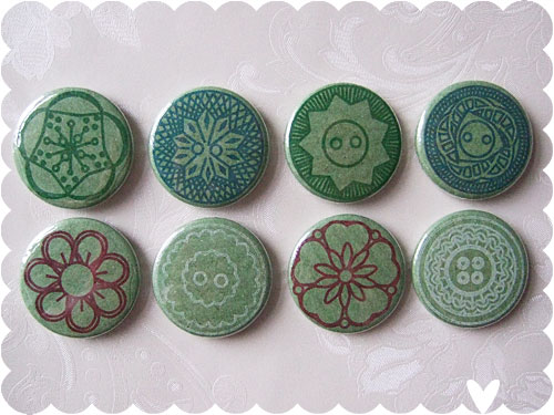 vintage button badges