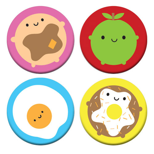 look around kawaii badges