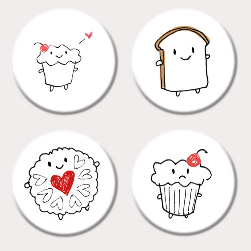 cakeify and friends badge set