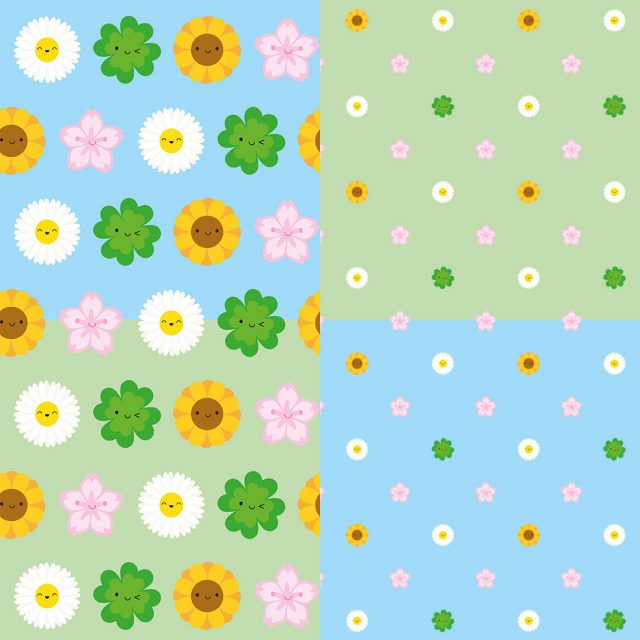 Spring Flowers fabric patterns