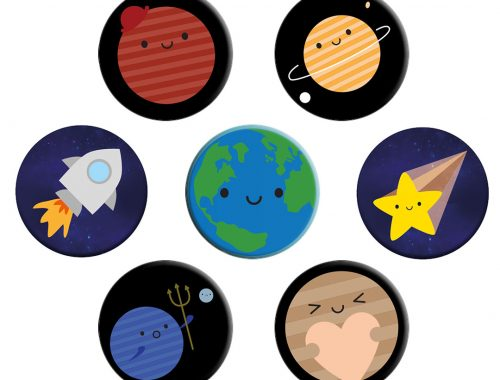 kawaii space badges
