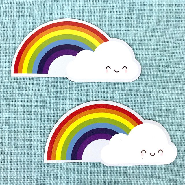 Rainbow & Cloud fridge magnet