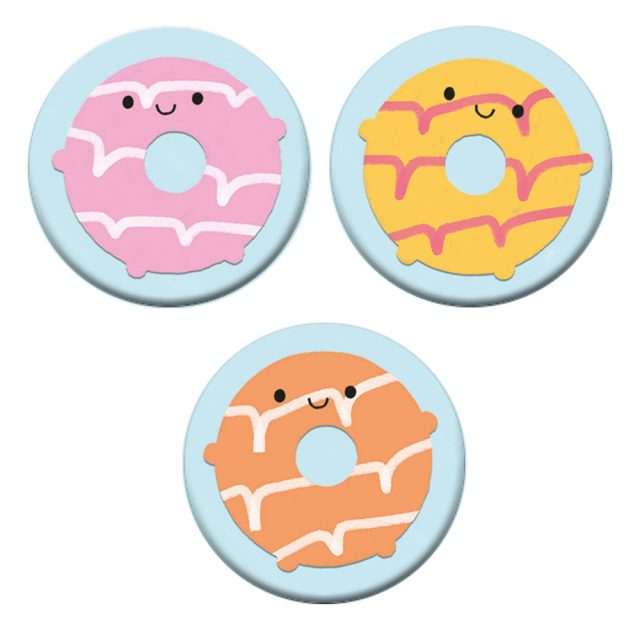 Kawaii Party Rings biscuits badges