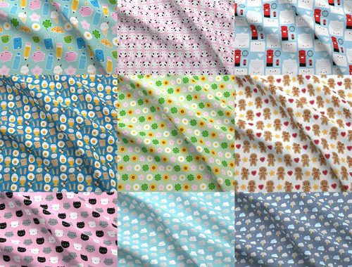 spoonflower kawaii fabric