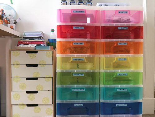 rainbow storage drawers