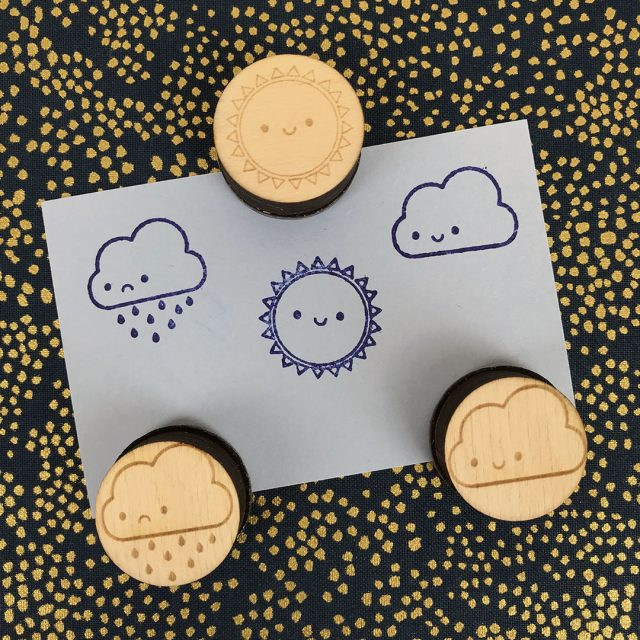kawaii polymer stamps