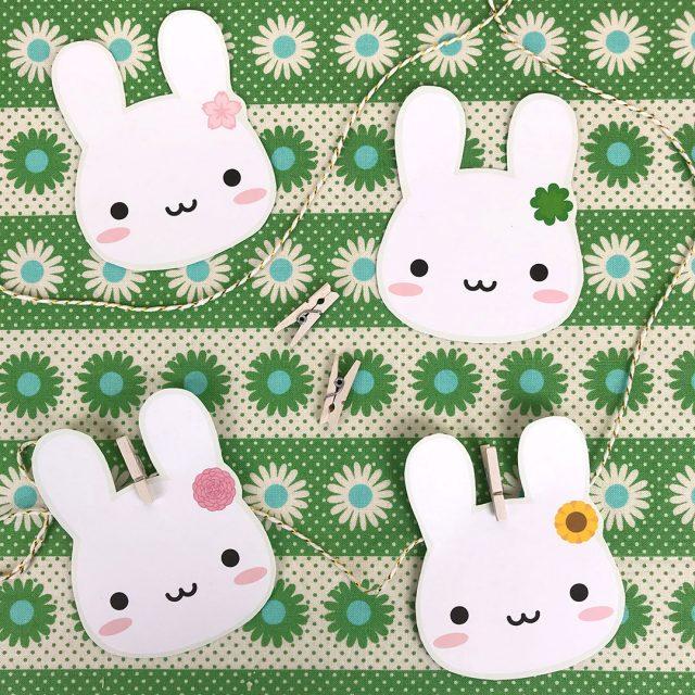 spring bunnies garland
