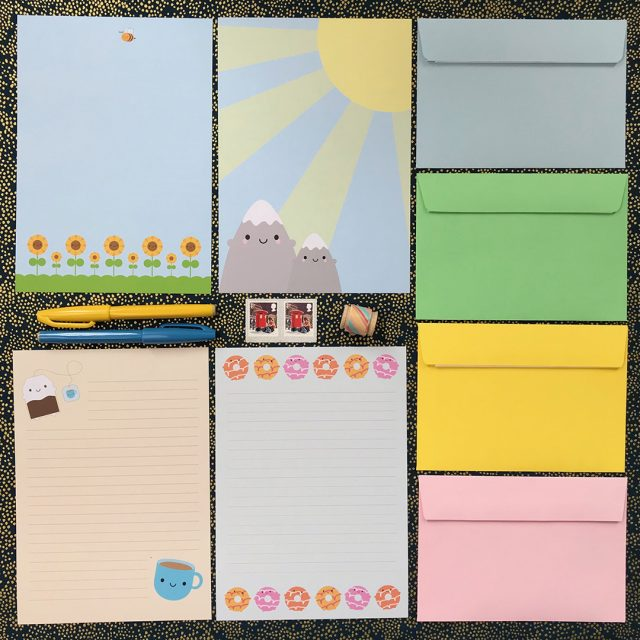 kawaii stationery - writing paper sets