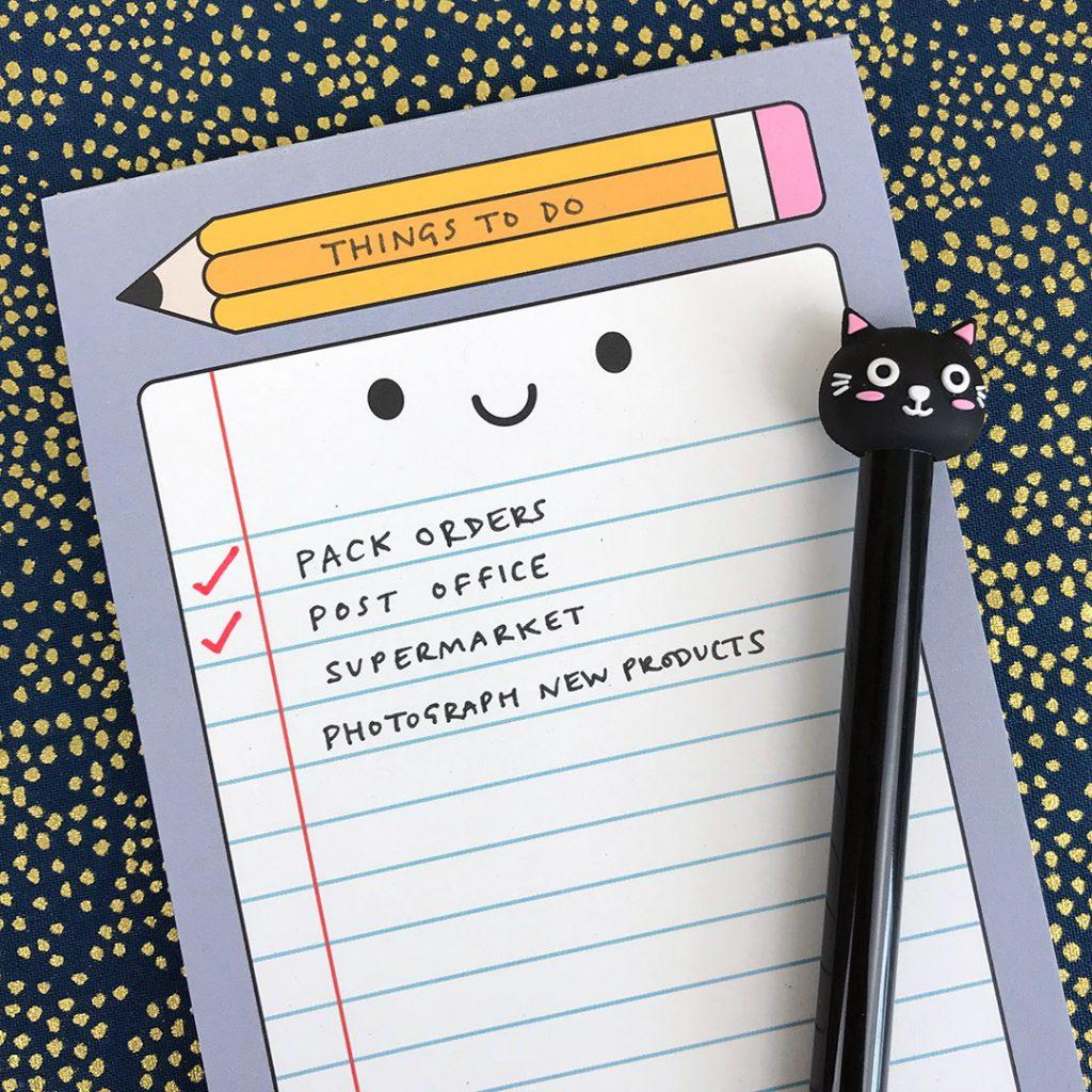 kawaii stationery to do list notepad