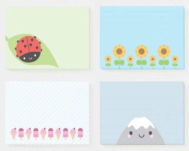 kawaii post-it notes