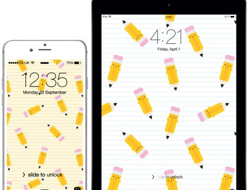 happy pencils kawaii wallpapers