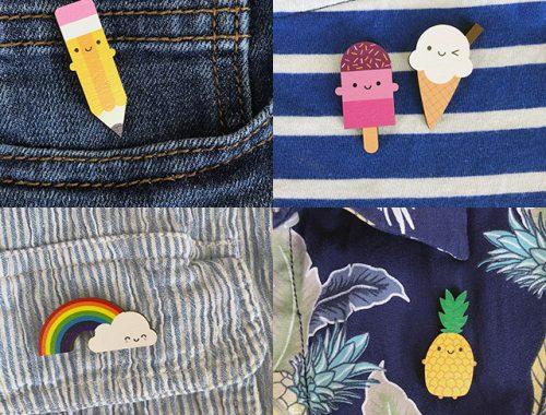 kawaii summer pins