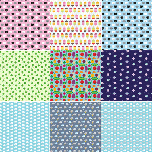 tiny fabric prints