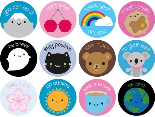 kawaii motivational stickers