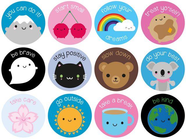 kawaii motivational stickers