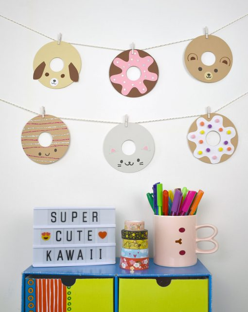 DIY Kawaii Donut Garland