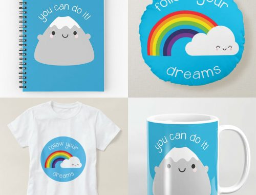 Kawaii Motivation at Society6, Redbubble & Zazzle