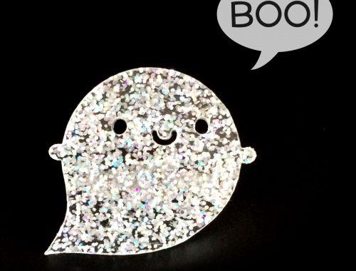 glitter ghost pin