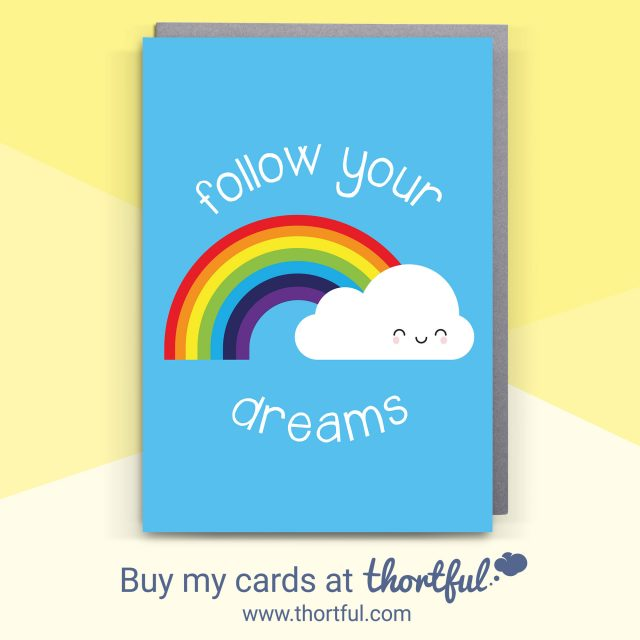 Rainbow Kawaii Cards at Thortful