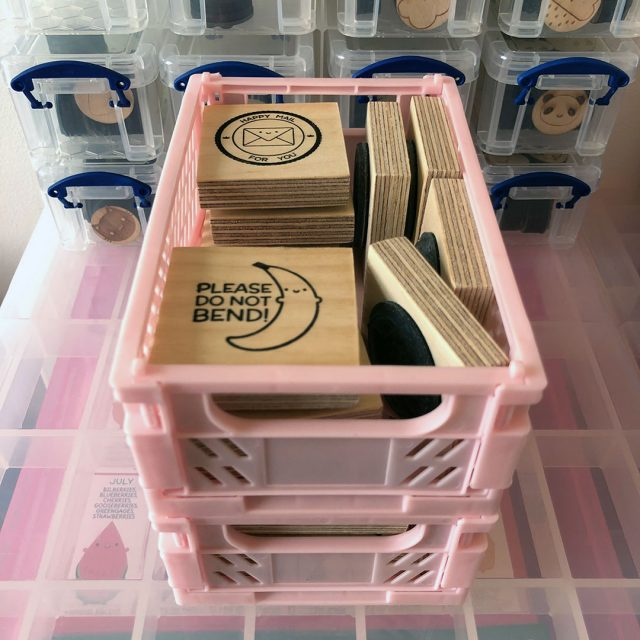 stamp storage crates