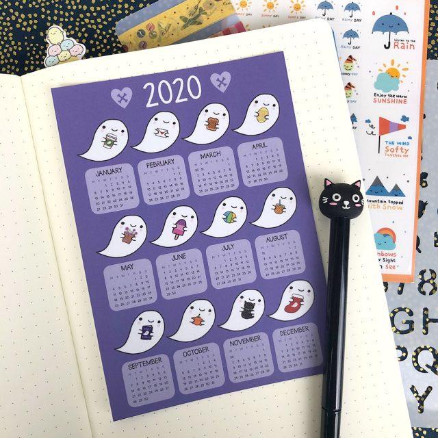 2020 calendar postcards