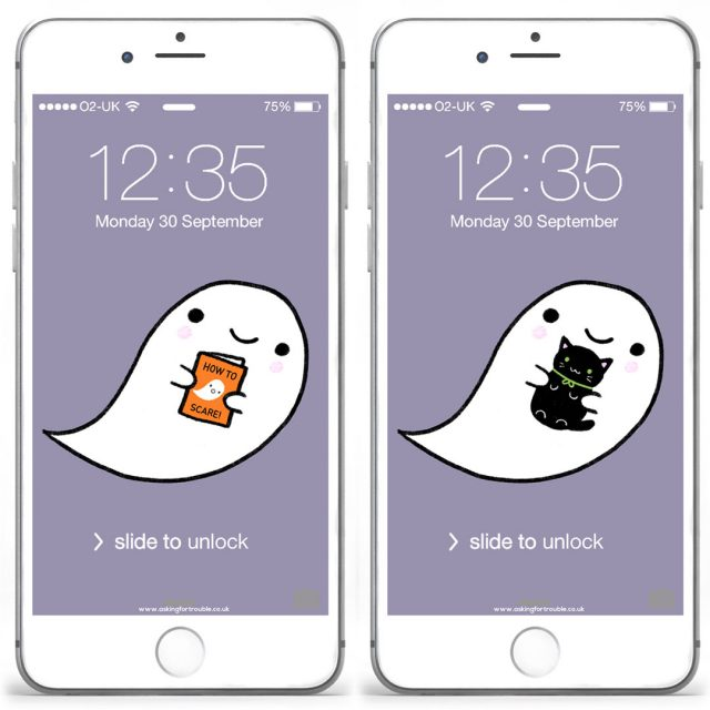 kawaii halloween ghost wallpapers