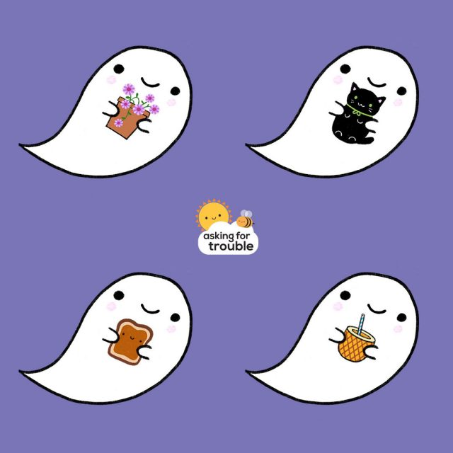 kawaii ghosts