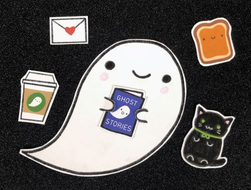 printable Ghost paper doll