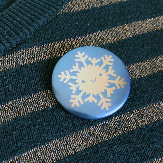 kawaii snowflake pin