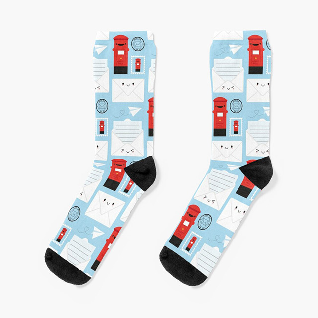 Happy Mail Cute Socks Redbubble