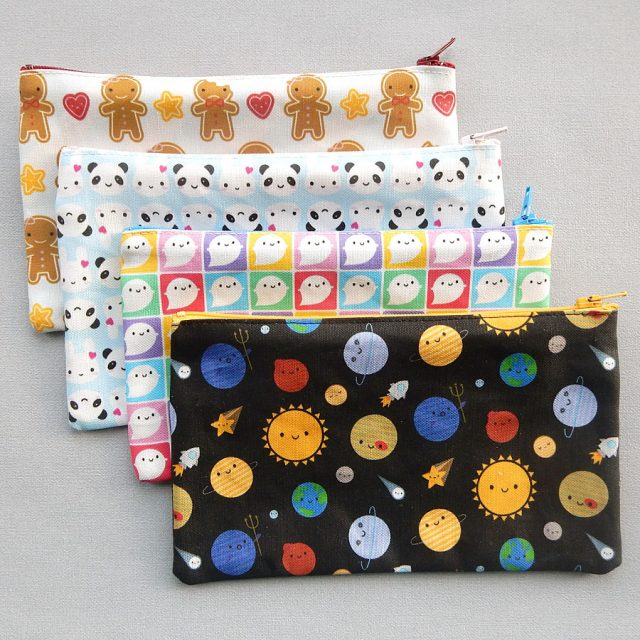 kawaii fabric pencil cases