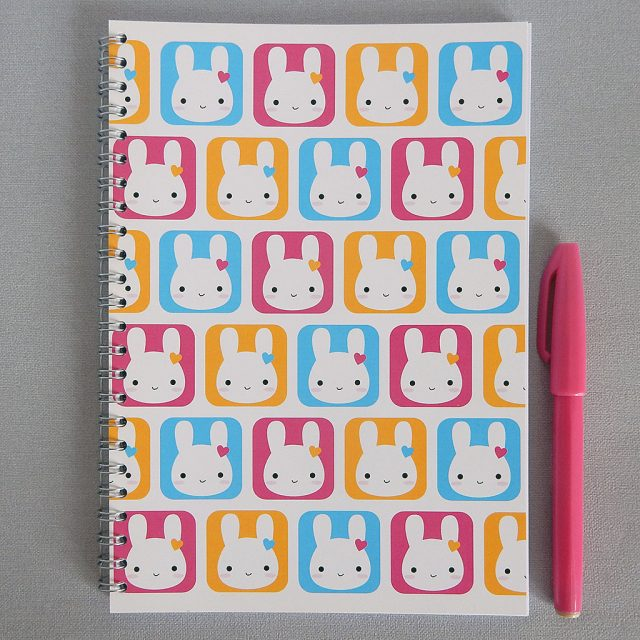 kawaii bunny notebook